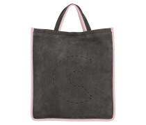 Tote C Bag Suede Tote Fume/Pink grau