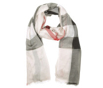 Check Modal Cashmere and Silk Scarf Stone Schal