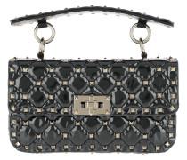 Rockstud Shoulder Bag Patent Transparent/Black