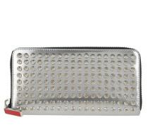 Portemonnaie Panettone Wallet Leather Silver Specchio silber