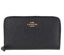 Portemonnaie Crossgrain Leather Medium Zip Around Wallet Navy marine