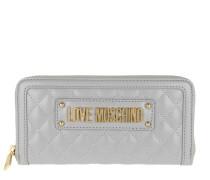 Portemonnaies Portafogli Quilted Nappa Wallet Grigio grau