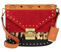 Patricia Leopard Combo Shoulder Small Viva Red Tasche
