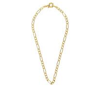Halskette Big Figaro X Ring 38cm Necklace Gold