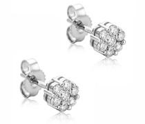 Ohrringe 0.38ct Diamond Stud Earring 14KT White Gold