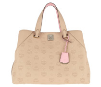 Essential Monogrammed Leather Tote Large Latte  Tote