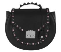 Eva Bling Studded Metal Shoulder Bag Black Tasche