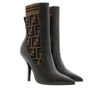 Boots Fendi Boots Leather Brown braun