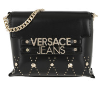 Logo Chain Crossbody Bag Black Tasche