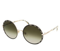 Sonnenbrille MCM127S Shiny Gold/Brown braun