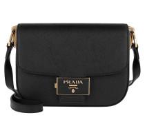 Umhängetasche Emblème Shoulder Bag Leather Black schwarz