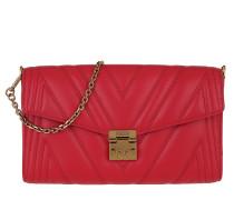 Umhängetasche Quilted Medium Flap Crossbody Wallet Ruby Red