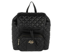 Quilted Nappa Backpack Nero Rucksack