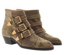 Susanna Boots Suede Dark Greige Schuhe beige|Susanna Boots Suede Dark Greige Schuhe braun