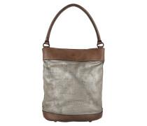 Monospalla Media Bucket Bag Metal/Grigio Perla Beuteltasche braun