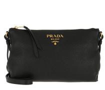 Umhängetasche Bandoliera Crossbody Bag Calf Leather Black schwarz