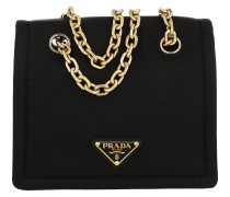 Umhängetasche Triangle Logo Shoulder Bag Nylon Black schwarz