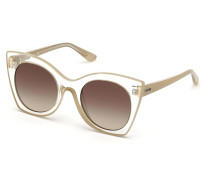 Sonnenbrille Women Sunglasses Injected GU7525 Brown