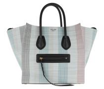 Tote Phantom Micro Luggage Bag Leather Blu blau