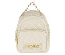 Quilted Soft Backpack Ivory Rucksack