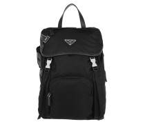 Fabric Backpack With Logo Black 2 Rucksack
