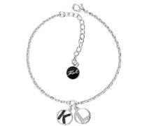 Schmuck Pearl & Crystal KL Round Logo Bracelet Multicolour silber