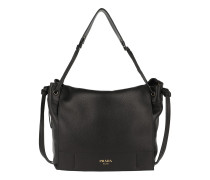 Satchel Bag Shoulder Bag Grained Leather Nero schwarz