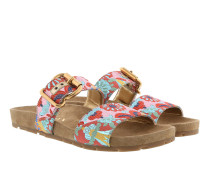 Lurex Fabric Sandals Amarena/Multi Sandalen