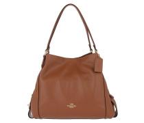 Hobo Bag Polished Pebbled Leather Edie 31 Shoulder Bag 1941 Saddle braun