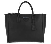 Large Quilted Shoulder Bag Black Tote
