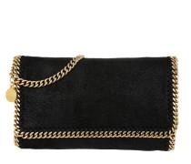 Falabella Shaggy Fold Clutch Small Black/Gold