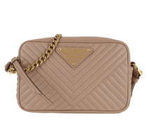 Quilted Chain Shoulder Bag Powder Pink 1 Tasche