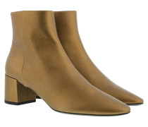 Boots Ankle Boots Leather Gold gold