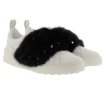 Sneakers Mink Fur White/Black Sneakers
