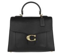 Satchel Bag Mixed Leather Tabby Top Handle Bag Black schwarz