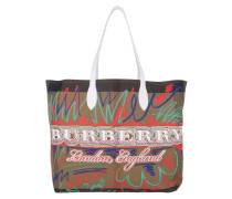 Doodle Marmaking Reversible Canvas Tote Large Trans White braun