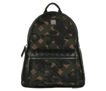 Dieter Monogram Medium Backpack Nylo Loden Green Rucksack