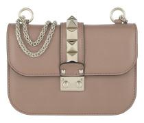 Rockstud Lock Shoulder Bag Small Pudre Tasche