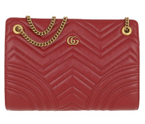 Umhängetasche GG Marmont 2.0 Shoulder Bag Leather Red rot