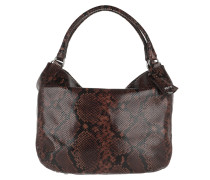 Hobo Bag Grecale Pitone Leather Dark Brown