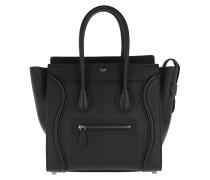 Micro Luggage Calfskin Tote Black Tote