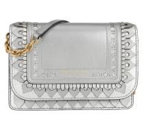 Hampshire Chain Wallet Brogue Detail Silver Tasche