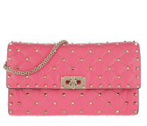 Rockstud Clutch Quilted Leather Shadow Pink Clutch