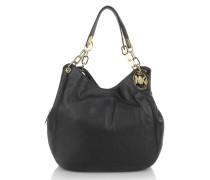 Fulton Large Shoulder Bag Tote Black Hobo