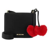 Hearts Shoulder Bag Small Black Tasche