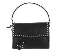 Rockstud New Studs Saddle Bag Leather Black Satchel Bag
