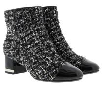 Marcie Toe Cap Mid Bootie Black/Silver Schuhe