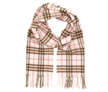 Accessoire Check Cashmere Scarf Ice Pink rosa