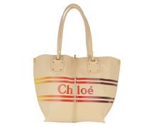 Tote Chloé Logo Tote Leather Blondie Beige beige