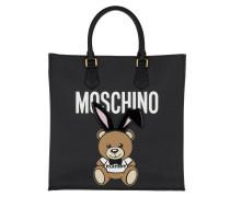 Playboy Bear Shoulder Bag Black Tote